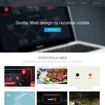 Website pentru firma Gorilla Studio