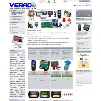Website pentru firma SC Verado SRL