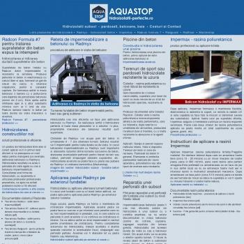 Hidroizolatii perfecte Aquastop