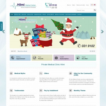 Website pentru firma Hilmi Medical Center