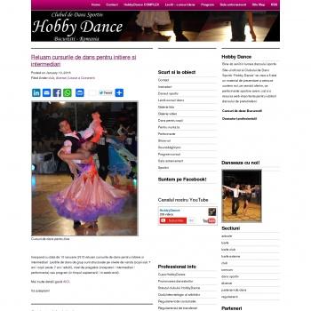 Website pentru firma Clubul de dans Hobby Dance