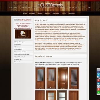 Website pentru firma SC HOLZER TEHNIC SRL