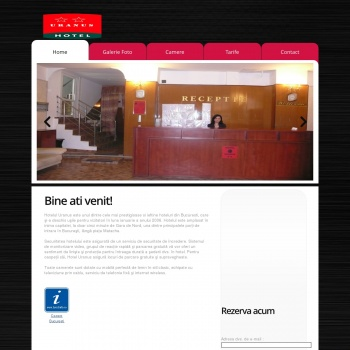 Website pentru firma SC Hotel Uranus SRL