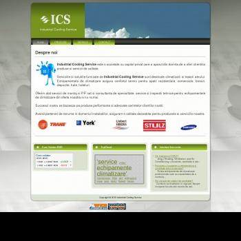 Website pentru firma Industrial Cooling Service
