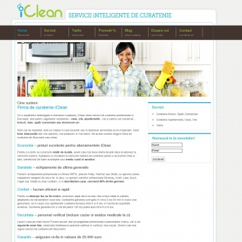 Website pentru firma iClean