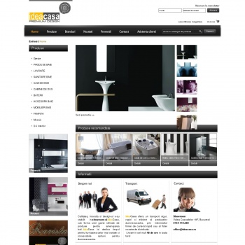 Website www.ideacasa.ro - Premium Design
