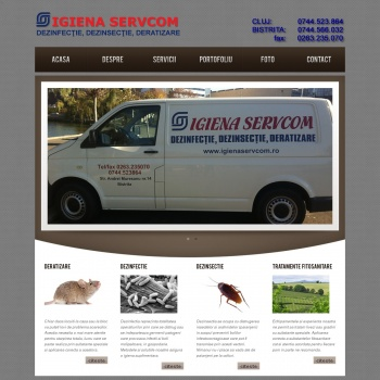 Website pentru firma SC Igiena Servcom SRL