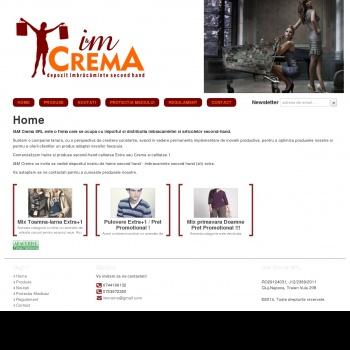 Website pentru firma SC I&M Crema SRL