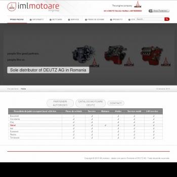 Website pentru firma International Motoare Leader SRL