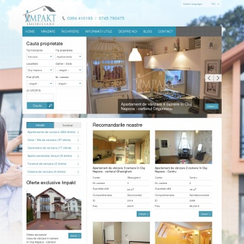 Website pentru firma Impakt Imobiliare
