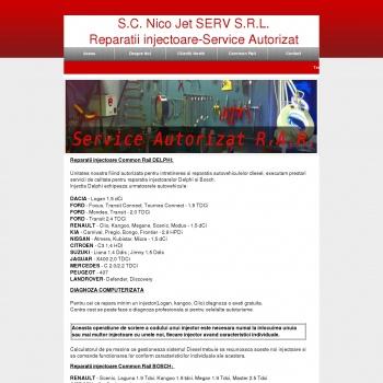 Website pentru firma SC NicoJet SERV SRL