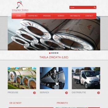 Website pentru firma SC Integrator Sistem SRL