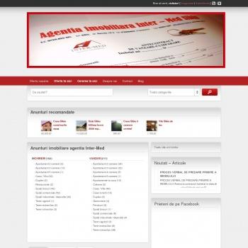 Website pentru firma Agentia imobiliara INTER-MED Sibiu