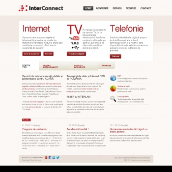 Website pentru firma InterConnect