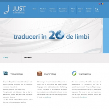 Website publicat de Just Translations