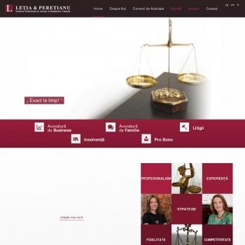 Website pentru firma Cabinet Individual Avocatura Alina Letia