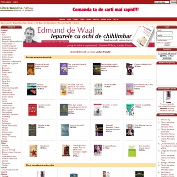 LibrarieOnline.net - Peste 10.000 de carti, audiobookuri si CD-u