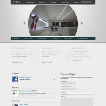 Website pentru firma Luminor