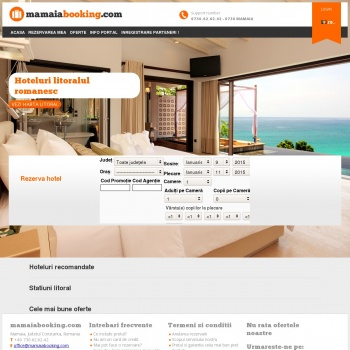 Website pentru firma Portal Turistic Mamaia Booking