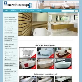 Website pentru firma S C Marmit Concept SRL