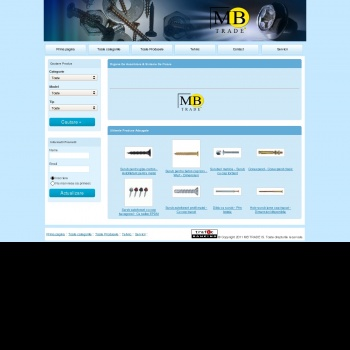 Website pentru firma SC MB TRADE IS SRL