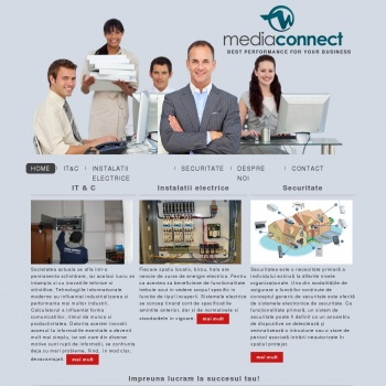 Website pentru firma SC MEDIA CONNECT SRL