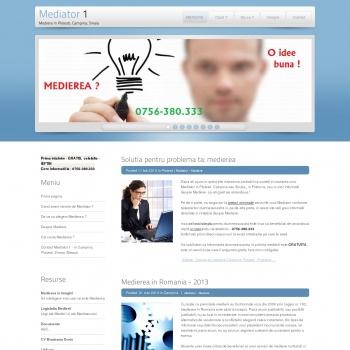 Website pentru firma Birou Mediator Munteanu Dorin