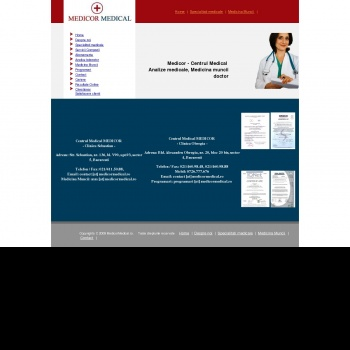Cabinet medical Medicor