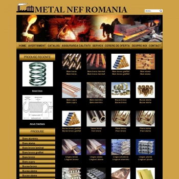 Website pentru firma SC METAL NEF ROM SA