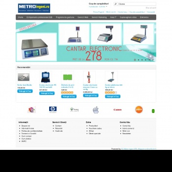 Website pentru firma METRO INGENI SRL