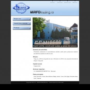Website pentru firma MIRFO TRADING