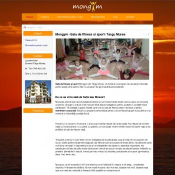 Website pentru firma Mongym Sala de Fitness