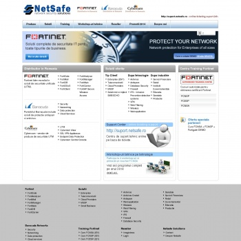Website pentru firma Netsafe Solutions