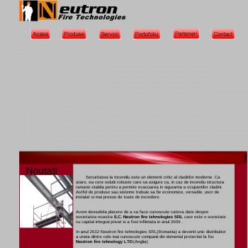 Website pentru firma S.C NEUTRON FIRE TECHNOLOGIES S.R.L