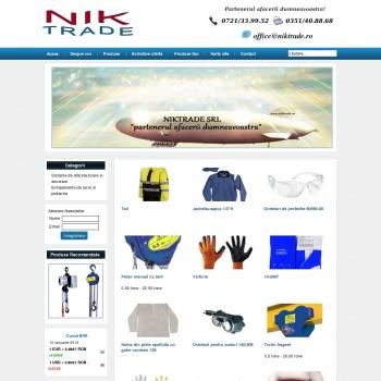 Website pentru firma NIKTRADE SRL
