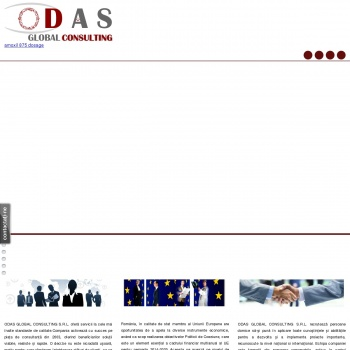 Website pentru firma ODAS GLOBAL CONSULTING S.R.L.