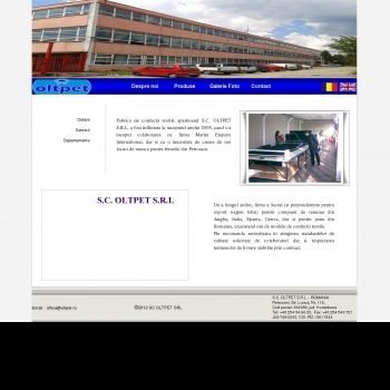 Website pentru firma SC OLTPET SRL