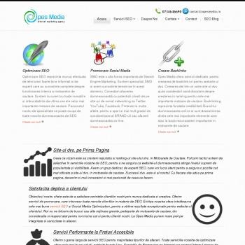 Website pentru firma Opes Media-Promovare Seo
