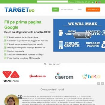 Website pentru firma SC TARGET WEB ADVERTISING SRL