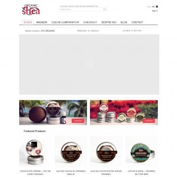 Website pentru firma OrganicShea