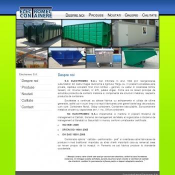 Website pentru firma SC ELECTROMEC SA