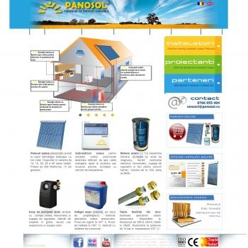 Website pentru firma PANOSOL