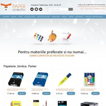 Website pentru firma Paper Distribution
