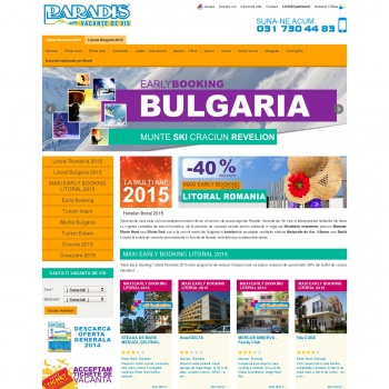 Website pentru firma Paradistours