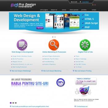 Website pentru firma SC PRO DESIGN JAGI SRL