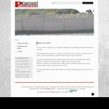 Website pentru firma SC PETRIFALEAN SRL