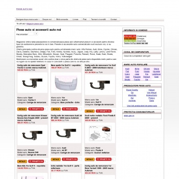 Site ce comercializeaza piese auto si accesorii auto noi