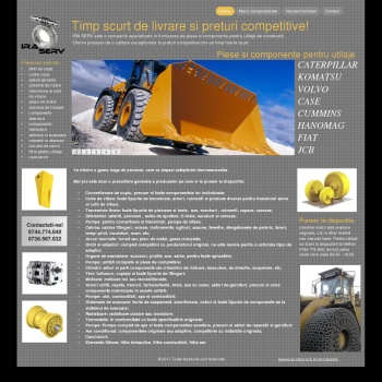 Website pentru firma SC IRA SERV SRL