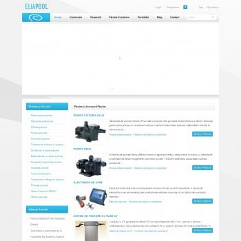 Website pentru firma ELIAPOOL PISCINE
