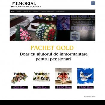 Website pentru firma Memorial Prodcom